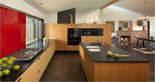 wonderful bamboo kitchen cabinet design with sink and spring spout