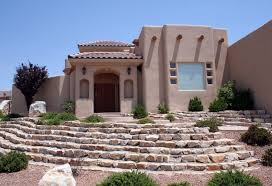 Santa Fe Style House Pueblo Revival Architecture The Flat Roofs And Earth Toned Walls