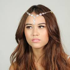 chain headband chain comb headpiece headband great gatsby inspired
