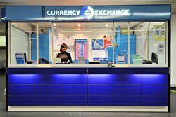 bureau de change aeroport currency exchange and machines at euroairport