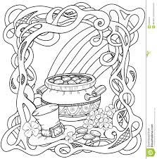 leprechauns gold with celtic pattern stock vector image 64330621