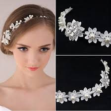 hair accessories for prom 2016 cheap fashion pearl flower party wedding hair