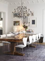 Modern White Dining Room Table Stylish Home Dining Room Interior Decor Completed With Rustic