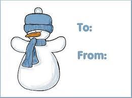 free christmas gift tags print snowman 1