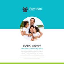 home u0026 family newsletter templates templatemonster