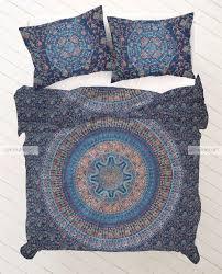 Indian Print Duvet Bedroom Hippie Comforters Hippie Bedding Hippie Duvet Covers