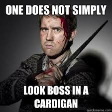 Neville Longbottom Meme - one does not simply look boss in a cardigan neville longbottom
