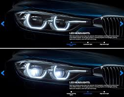 audi headlights poster 3 series lci halogen and led headlights compared