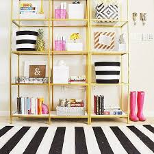 Black And Gold Rug How To Enhance A Décor With A Black And White Striped Rug