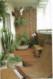 55 apartment balcony decorating ideas bamboo wall tropical