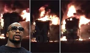 mayweather cars car trailer fire sees four of floyd mayweather u0027s cars go up in