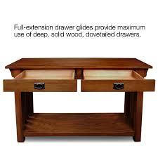 amazon com leick furniture mission sofa table medium oak