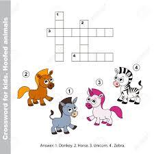 horse and donkey zebra and unicorn the easy level the simple