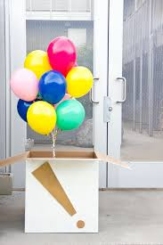 birthday balloon box attach a card gifts inside such