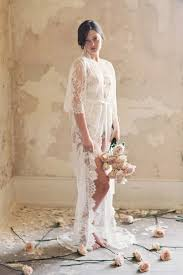 wedding dressing gowns swan lace robe dressing gown with kimono sleeves in