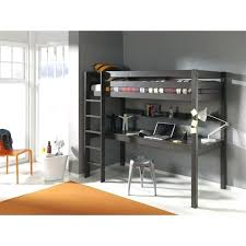 lit mezzanine avec bureau intégré lit hauteur avec bureau lit mezzanine bureau taupe lit mezzanine