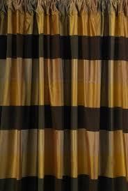 Silk Plaid Drapes The Silk Drapery Company Silk Hepburn Ebony Gold Drapery Panel