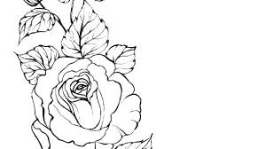 design flower rose drawing outline tattoos for men silhouette design ideas outline rose flower