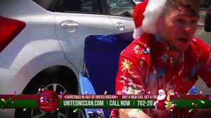 nissan christmas united nissan christmas in july 2015 youtube