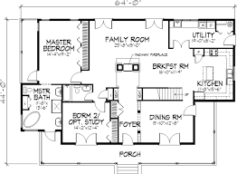 Single Story Floor Plan Http Www Thehousedesigners Com Images American Floor Plans And House Designs