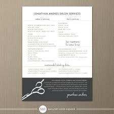 Hairdresser Business Card Templates Hair Stylist Or Barber Services Menu Salon Price List 5