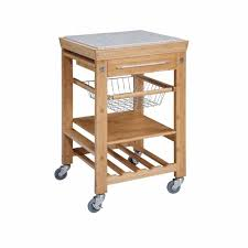 kitchen island cart with granite top 22 sq in bamboo kitchen island cart 44031bmb01kdu the home depot