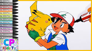 pikachu and ash from pokemon coloring pages 8 pokemon coloring