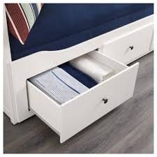 hemnes day bed w 3 drawers 2 mattresses white moshult firm 80x200