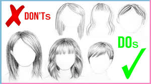 dos u0026 don u0027ts how to draw realistic hair easy for beginners step