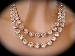 necklace swarovski crystals images Chunky swarovski bridal teardrop pendant necklace the crystal jpg