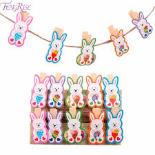 happy easter decorations fengrise 10pcs easter bunny photo clip happy easter decorations for