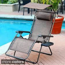 Zero Gravity Lounge Chair With Sunshade Abba Patio Oversized Zero Gravity Recliner Patio Lounge Chair With