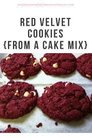 red velvet cookies from a cake mix confessions of a fitness