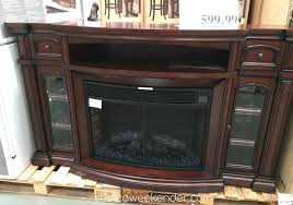Electric Fireplace Media Console Furniture Exciting Costco Entertainment Center For Inspiring Tv