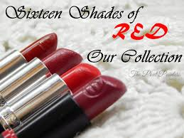 Different Shades Of Red Sixteen Shades Of Red Our Collection The Pout Painters