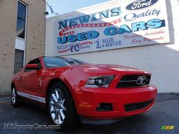 2011 Ford Mustang Black 2011 Ford Mustang V6 Coupe In Race Red 100294 Nysportscars Com