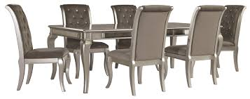 Extending Dining Room Table Silver Rectangular Extendable Dining Room Set
