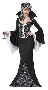 deluxe royal vampiress ladies halloween fancy dress black white