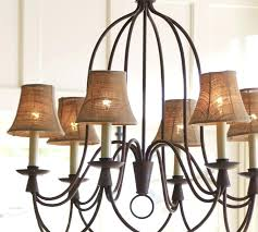 Candle Lit Chandelier Chandeliers With Black Shades Eimat Co