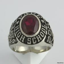 highschool class ring page high school syn spinel mens class ring 10k white gold