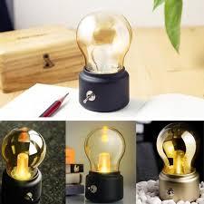 amber led book light new vintage bulb night light retro usb l rechargeable luminaria