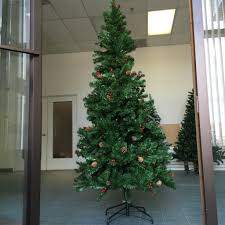 new 7 ft wrapped artificial christmas tree with 58 cones 174