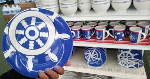 Nautical Themed Giveaways - nautical themed dishes u0026 more only 1 00 at dollar tree