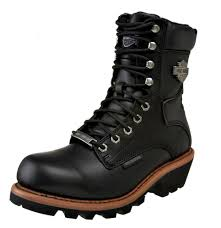 brown motorcycle boots harley davidson men u0027s tyson logger black leather motorcycle boot