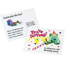 personalized birthday invitations for kids giddy up avery com