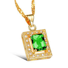 gold green necklace images Wholesale 2016maikun simple square design white green crystal jpg