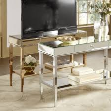 Table With Sofa Camille Glam Mirrored Tv Stand Console Table With Drawer By