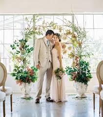 wedding arches inside ceremony indoor ceremony wedding flower photos and chuppah