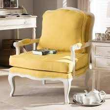 Yellow Accent Chair Antoinette Traditional Classic Antiqued French Yellow Accent Chair