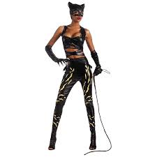 halloween costumes at amazon amazon com deluxe catwoman costume small dress size 6 8 clothing